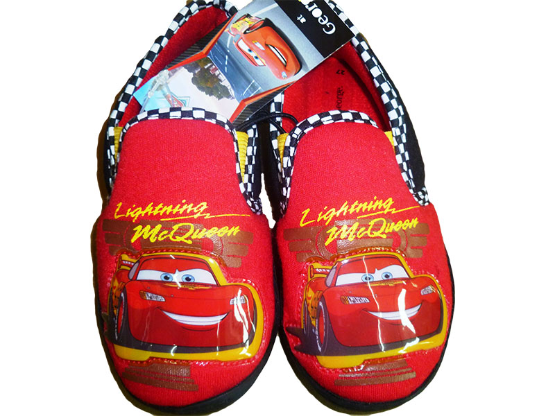 Boys Red House Shoes, Lightning McQueen